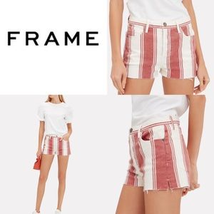 RAME Le Fiery Stripe Cutoff Short